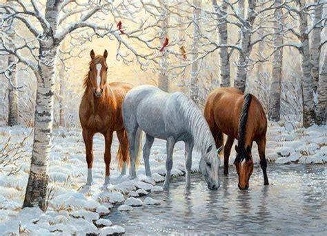 Country Cottage Cross Stitch Chevaux Peintures Dessins