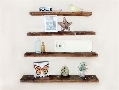 floating reclaimed wood shelves rustic wall shelf set of 4 reclaimed wood floating shelves