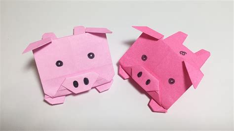 Simple Origami Pig - 3d origami pig learn origami how to make origami pig