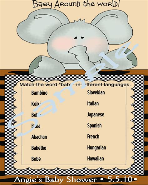 How Do You Say Baby Shower In by How Do You Say Quot Baby Quot In Different Languages Baby