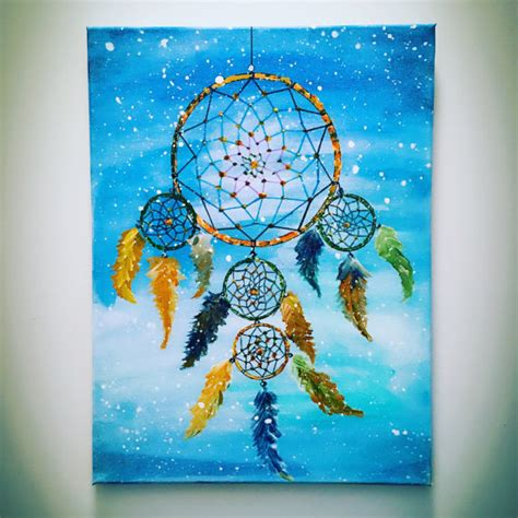 Design Your Own Dream Home Acrylic Painting Dream Catcher On Canvas Wall Art Living