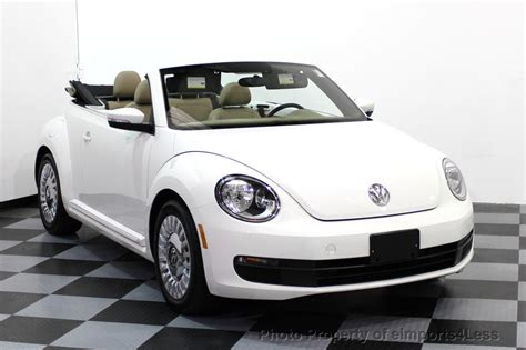 Used Convertible Volkswagen Beetle For Sale by 2013 Used Volkswagen Beetle Convertible Certified Bug 2 5