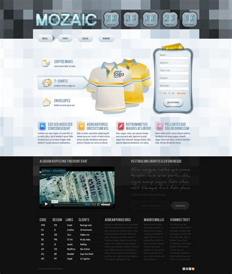 templates for adobe photoshop free download mozaic free adobe photoshop website template