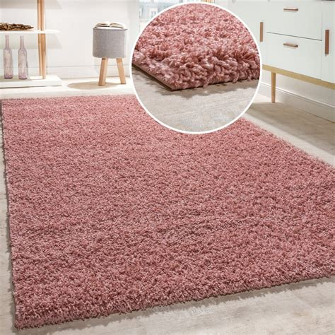 teppich pink shaggy rug pile pile high quality high thread