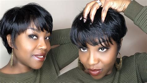wrap styles for short haircuts for black women how to silk press satin wrap 3c twa youtube