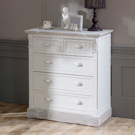 cream antique bedroom furniture cream 5 drawer chest shabby french chic vintage country