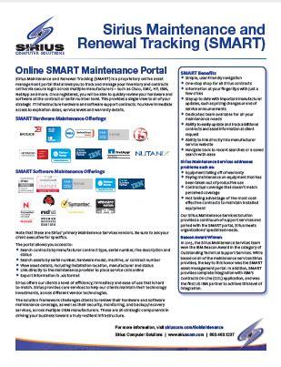 design brochure meaning sirius launches new smart maintenance portal sirius