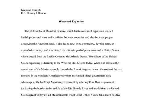 Westward Expansion Essay by Westward Expansion A Level History Marked By Teachers