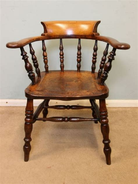 Country Desk Chair by Antique Smokers Bow Armchair Captains Country