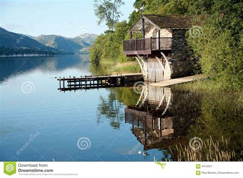 boat house lake district boat house on ullswater stock image image 4413421