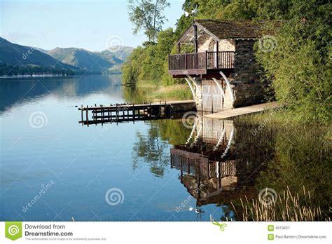 lake district boat house boat house on ullswater stock image image of boathouse