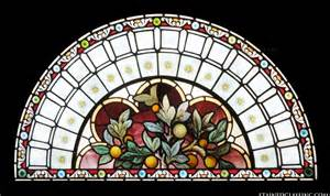 Arched transom in stained glass quot stained glass window