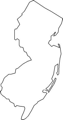 New Jersey State Map Outline by State Of New Jersey