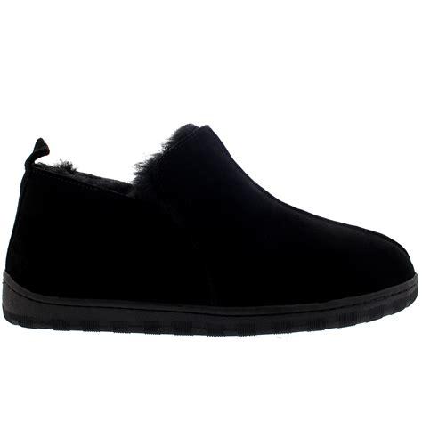 mens slipper boots uk mens australian sheepskin genuine fur lined boot rubber