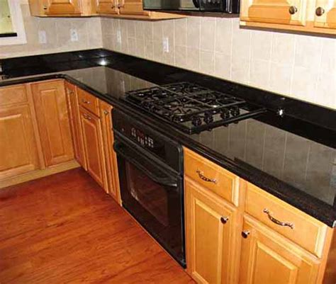 backsplash ideas  black granite countertops