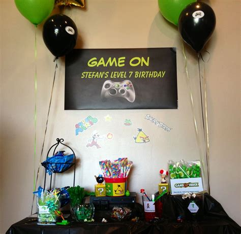 themed gamer party our game truck party boy party ideas pinterest video