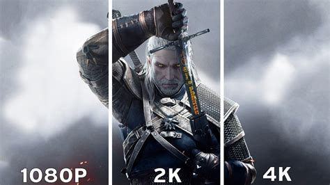 4k comparison the witcher 3 hunt 1080p vs 2k vs 4k graphics