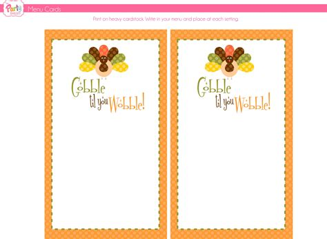 menu card template powerpoint 8 best images of free thanksgiving printable card