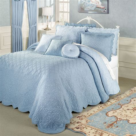 blue bed spread evermore blue grande bedspread bedding