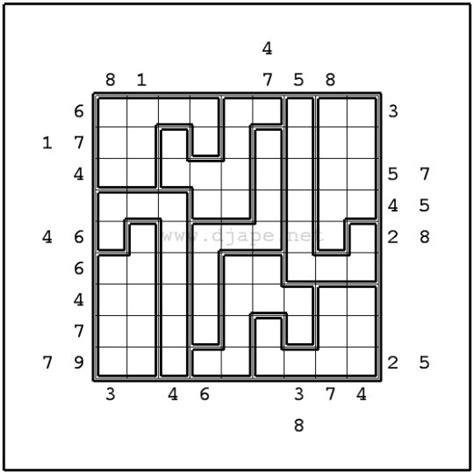 printable outside sudoku puzzles outside jigsaw sudoku puzzles pinterest