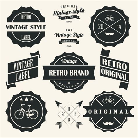 design vintage label retro labels designs collection vector free download