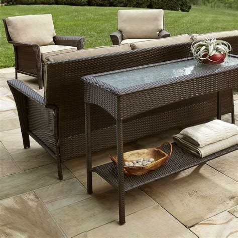 sears ty pennington patio furniture ty pennington style parkside console table outdoor