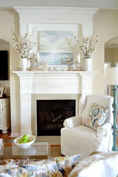 living room mantel ideas gorgeous coastal great room hometalk styles coastal