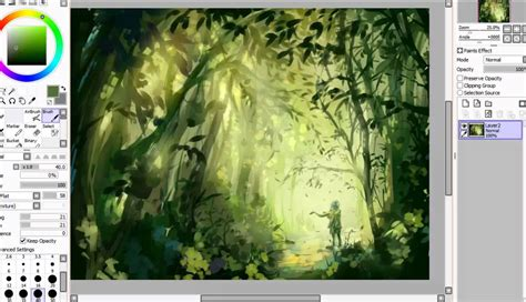 paint tool sai leaf brush sai speedpaint the forest stray