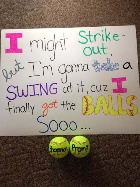 cute homecoming themes softball promposal prom ask ideas pinterest