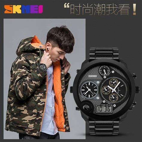 Skmei Jam Tangan Digital Analog Jumbo Ad1170 Black T3010 1 skmei jam tangan digital analog jumbo pria ad1170 black jakartanotebook