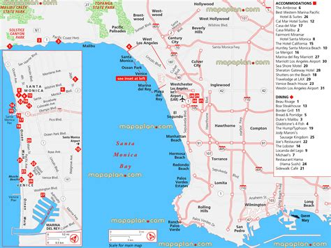 hotels in malibu area los angeles map santa bay all iconic beaches