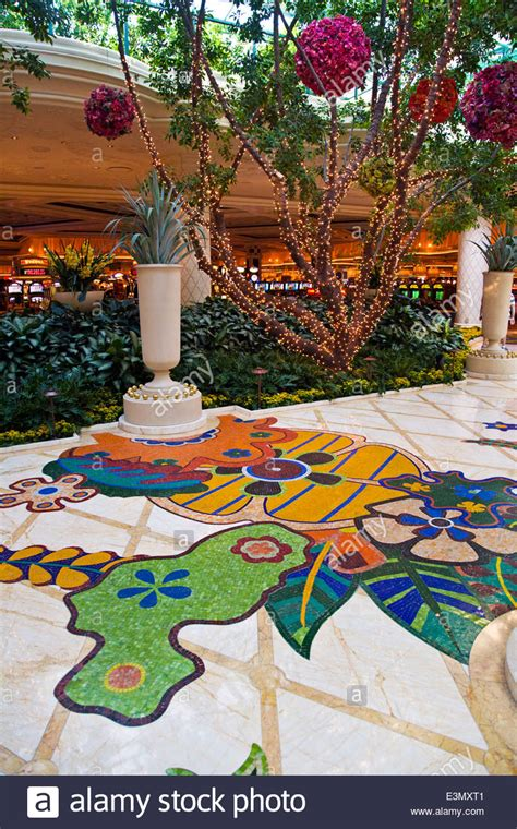 Floor And Decor Las Vegas by Plants And Inlayed Floors Are Part Of The Decor Inside The Hotel Stock Photo Royalty Free