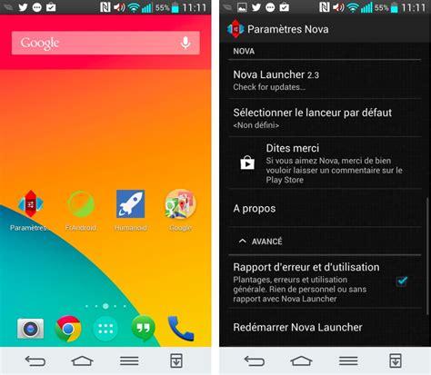 android loader launcher 2 3 comme un go 251 t de kitkat dans la version finale
