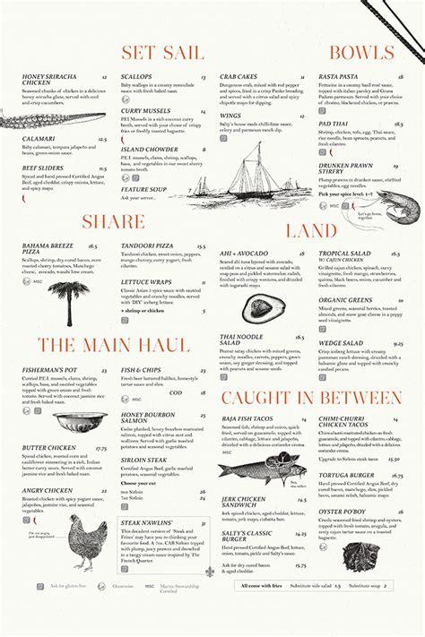 salty cafe menu salty s house visual communication graphic design menu design restaurant