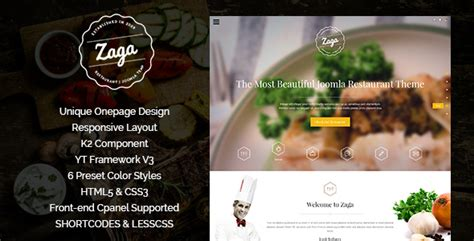 themeforest zaga zaga responsive onepage restaurant template by