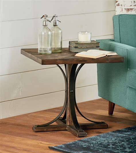 magnolia home trestle table magnolia home iron trestle end table traditional