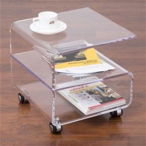 acrylic side table with wheels rolling acrylic coffee tea table on wheels lucite perspex