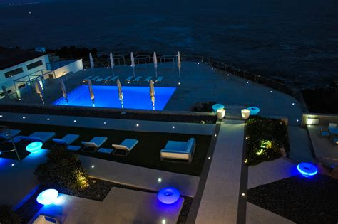 outdoor kitchen construction night lights impressive swimming pool lights pool lighting ideas and