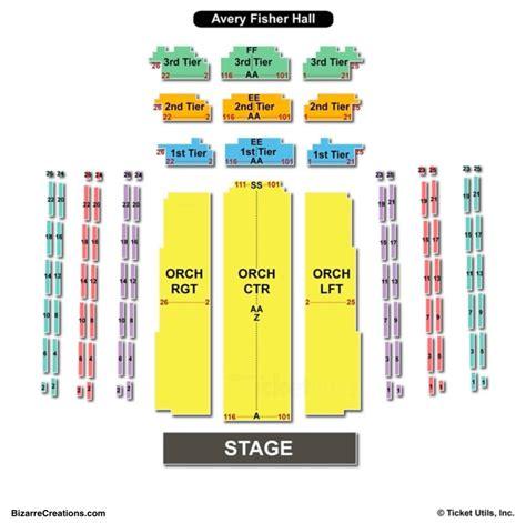 david geffen hall seating chart seating charts