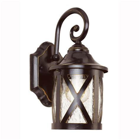 Outdoor Lantern Lighting Bel Air Lighting Carriage House 1 Light Outdoor Bronze Wall Lantern With Seeded Glass 5129