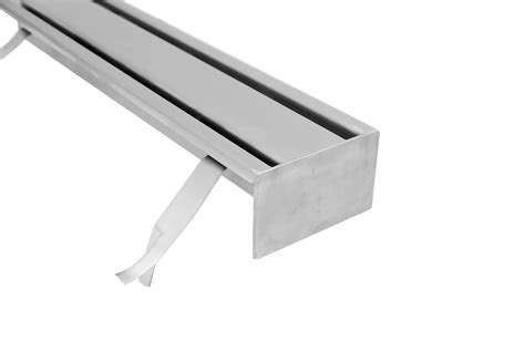 Floor Drain Stainless 2 stainless steel floor drains with 2 slit top s140 s500