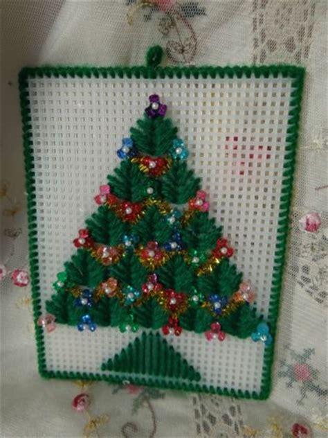 handmade craft plastic canvas christmas tree ornament