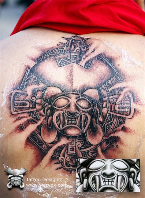 Aztec Warrior Tattoo Design By Warvox Com By Warvox On Aztec Warrior Tattoos Designs 2