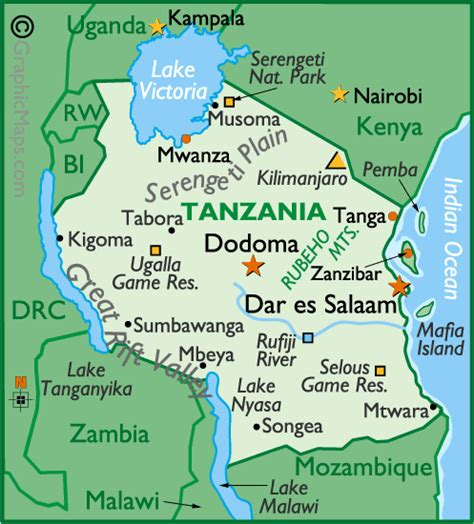 map ya africa porchester junior tanzania section tanzania map