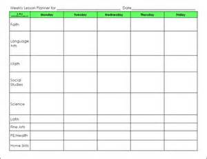 weekly lesson planning template blank preschool weekly lesson plan template lesson