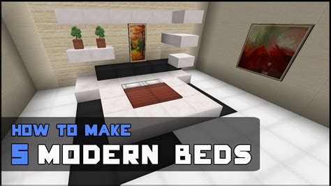 minecraft modern bedroom minecraft tutorial how to make 5 modern beds youtube