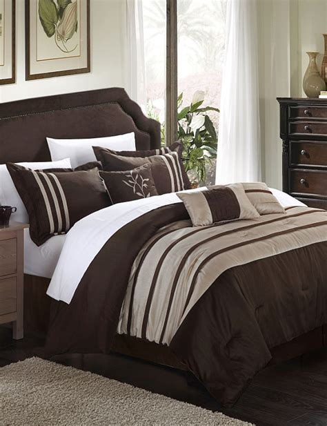 chic home design 7 pc luxury brown taupe microfiber