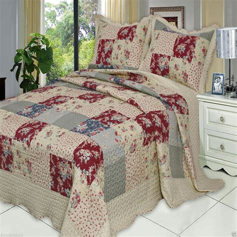 Oversize King Quilts by Luxury Tania Oversized Microfiber Coverlet Quilt Set With