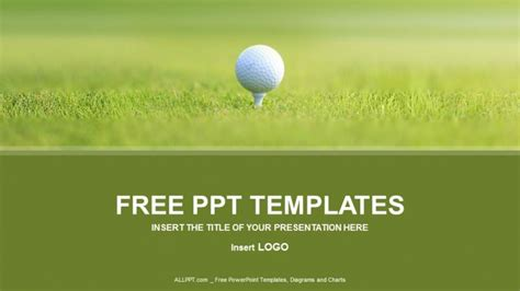 golf ball sports powerpoint templates