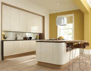 Curved Kitchen Island Designs Remo Alabaster Handleless Kitchens Kitchens